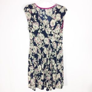 Gilli Floral Dress Faux Wrap Pleated Skirt